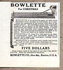 1915 Print Ad Bowlette Skill Game Boston,MA