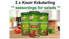 3 x KNORR Kräuterlinge *seasonings for salads*  (Made in Germany) **BEST PRICE**