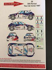 DECALS 1/43 PEUGEOT 306 MAXI DELECOUR RALLYE LYON CHARBONNIERES 1997 RALLY