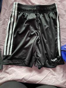 Adidas Black Football Shorts Age 11-12