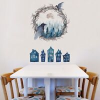 3D PVC Wall Sticker Self-Adhesive Halloween Panel Wallpaper Living Room Decor LS