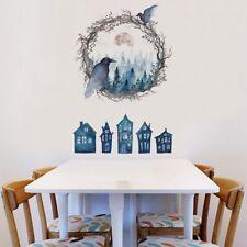 3D PVC Wall Sticker Self-Adhesive Halloween Panel Wallpaper Living Room Decor LS