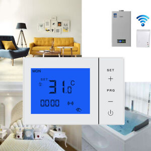 Wireless Room Thermostat Battery Powered Underfloor Heating Thermostats Boiler