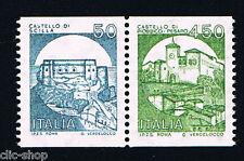 ITALIA 2 FRANCOBOLLI CASTELLI D'ITALIA SCILLA - PIOBBICO 1985 nuovo**