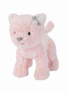 NWT Carters Pink Plush Kitty Cat Kitten Silver Bow Stuffed Animal Baby Toy 67638