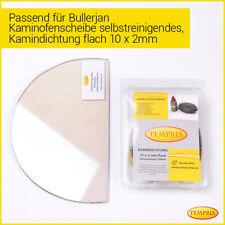 Kaminglas Ofenglas SR feuerfestes Glas Kaminscheibe Ofen passend f. Bullerjan 02