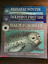 New listing 3 books, Smithsonian Oceanic Collection: Seal Pup, Manatee Winter, Dolphin's Day