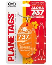 Aloha Airlines Boeing 737-200 Tail #N823AL Genuine Aluminum Plane Skin Bag Tag