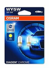 Osram 2827DC-02B  Diadem Chrome Indicator Light WY5W 12V 5W 2 Pack Blister