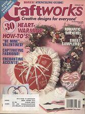Craftworks Feb 95 Victorian Hearts Sister Sampler Girl's Valentine Pom-pom Dress