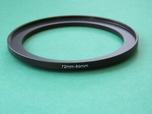 72mm-86mm Stepping Step Up Male-Female Filter Ring Adapter 72mm-86mm
