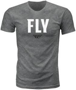 Fly Racing Men's WFH Tee T-Shirt (Dark Grey Heather) XL