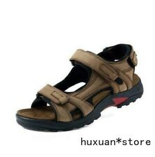 Mens Leather Open Toe Sandles Sport Sandal Hiking Sandals Summer Casual Shoes