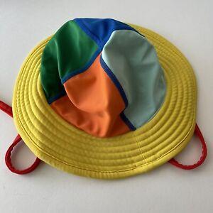 Hanna Andersson Kids Sunblock Swimmy Sun Bucket Hat Chin Tie Size XS 3/6/12 Mos