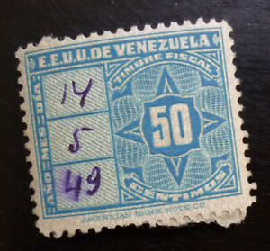 Revenue Stamp Venezuela  C10