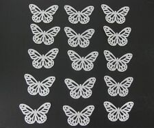 48 EDIBLE WHITE BUTTERFLY RICE / WAFER PAPER CUPCAKE CAKE TOPPERS