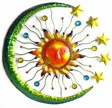 3D Sun Moon Stars Metal Wall Art Indoor Outdoor Hanging Sculpture Decor Jewels