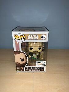 Funko Pop Qui Gon Jinn Tatooine 422 Star Wars Amazon Exclusive + Protector