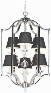 Hampton Bay Elora Collection 6-Light Chrome Lantern Chrome