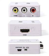 HDMI a Scart Av Rojo Blanco y Amarillo Compuesto Convertidor alimentado por USB