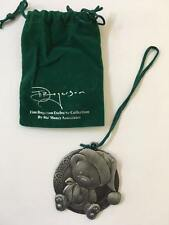 Crate & and Barrel Tim Rogerson Metal Ornament-Teddy Bear- New in Velvet bag