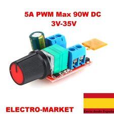 5A  PWM max  90W DC motor 3V-35V interruptor de control de velocidad LED dimmer