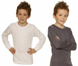 Kids Childrens Boys Thermal Short Sleeve T-Shirt Long Johns Bottoms 2-13 Years