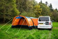VW CAMPERVAN DRIVE AWAY AWNING ACCESSORIES BUNDLE - ORANGE & BLACK OLPRO COCOON