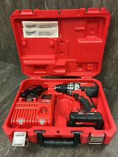 New listing Milwaukee M18 Cordless 1/2 Compact Drill Driver Kit 2601-21 Battery Charger Case
