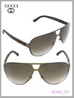 GUCCI Original 2252/S Metal Matte Black/Grey Gradient Unisex Aviator Sunglasses
