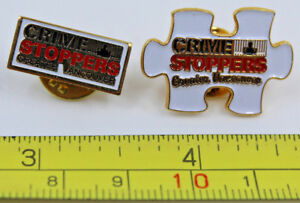 Greater Vancouver Crime Stoppers BC Canada x 2 Collectible Pin Police Jail