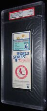 1982 WORLD SERIES GAME 6 TICKET ST LOUIS CARDINALS DARRELL PORTER WS MVP HR PSA