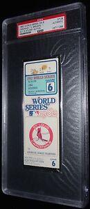 1982 WORLD SERIES GAME 6 TICKET ST LOUIS CARDINALS DARRELL PORTER WS MVP HR PSA