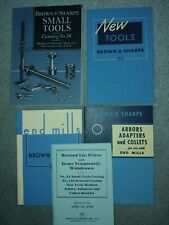 Brown & Sharpe Small Tools Catalog No. 34  1941 along with 3 other books
