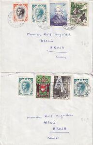 E272 Monaco 5 different Rainier III stamped covers / postcards ; 1957 - 1963
