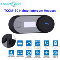 TCOM-SC FM Bluetooth Motorcycle Motorbike Helmet Intercom Headset w Screen LCD