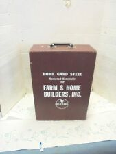 empty salesman sample case revere farm & home builders home guard steel