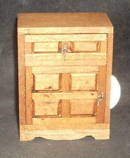 Mexican Bedside Bureau Hacienda Furniture 1:12 #MAF2204 Miniature Hand Carved