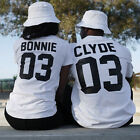 Couple T-Shirt Bonnie 03 & CLYDE 03 Love Matching Shirts -Couple Tee Tops New AS