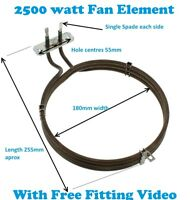 WHIRLPOOL 2500w Cooker Fan Oven Element