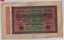 Reich billete-veinte mil/20.000 mark-inflación 1923 NR a-LV 497085