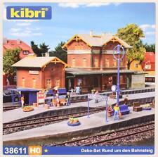 """Kibri 38611 ( 8611 ) H0 - Ausgestaltung """" Rund um den Bahnsteig """" NEU & OvP"""