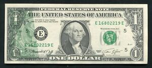 """1974 $1 FEDERAL RESERVE NOTE """"PARTIAL BACK TO FACE OFFSET PRINTING ERROR"""" UNC"""
