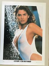 CINDY CRAWFORD,SEXY!  1980's POSTER