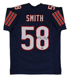 Roquan Smith Authentic Signed Navy Blue Pro Style Jersey Autographed BAS Wit