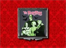 THE MUNSTERS LOGO LILY HERMAN BATS GOTH MAKEUP POCKET COMPACT MIRROR