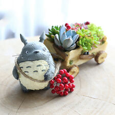 Kawaii Cartoon Cute Chinchilla Cat Cart Flower Pot Planter Succulents Cacti Mini