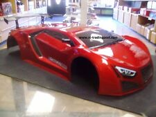 Painted Red Supercar Body For Redcat 1/10 RC Touring/Drift Car (Body Only)