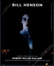 2004 Bill Henson photo NYC gallery show vintage print ad