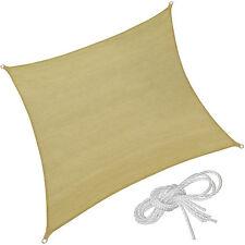 Voile d'ombrage carré protection UV solaire toile tendue parasol 3,6 x 3,6 m